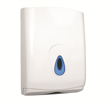 Plastic lockable paper towel dispenser