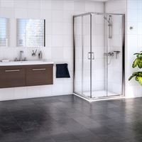 SanCeram corner entry shower enclosure