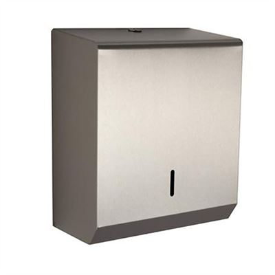 Metal lockable paper towel dispenser - Stainless Steel