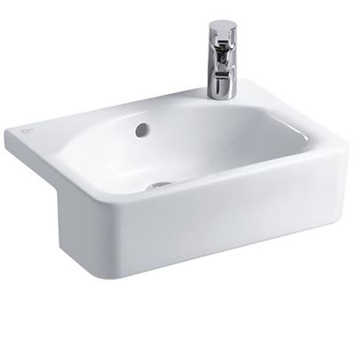 Ideal Standard Concept Space Cube 500 semi-recessed vanity basin with right hand tap hole