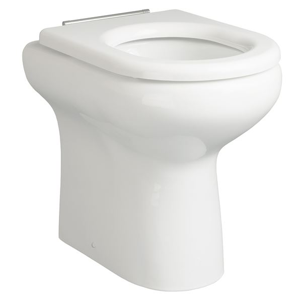 SanCeram Chartham rimless 480mm high pan back to wall toilet