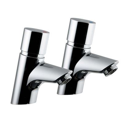 Armitage Shanks Avon 21 pair of self closing basin pillar taps