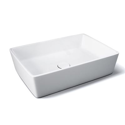 Langley Rectangular Vessel Sink – Modern Sit on Basin for Stylish Washroom Sanitary Ware