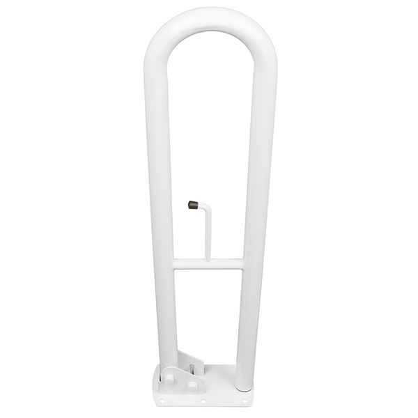 SanCeram 800mm hinged powder coated grab rails - White
