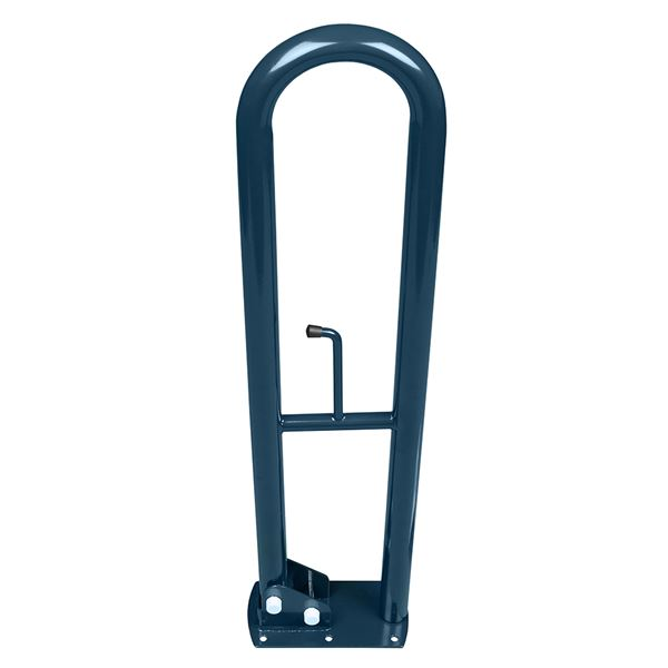 SanCeram 800mm hinged powder coated grab rails - Blue
