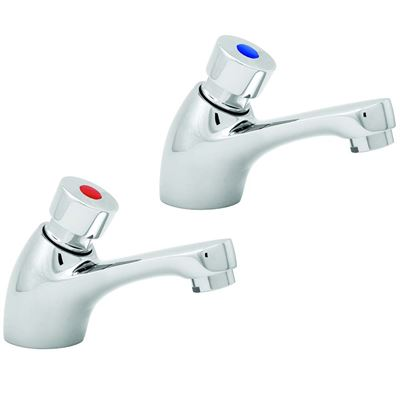 Deva self closing basin pillar taps