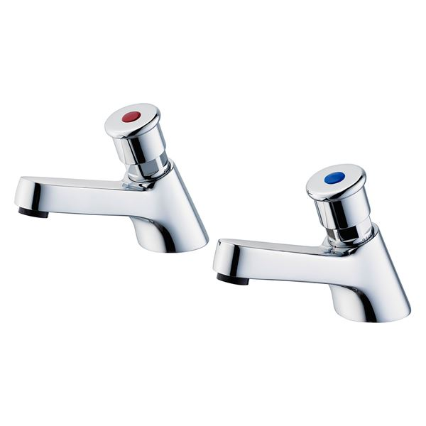 Armitage Shanks Sandringham self closing pillar taps