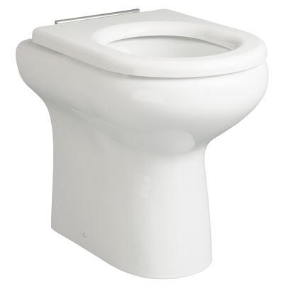 SanCeram Chartham rimless back to wall 450mm WC toilet pan