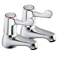Deva deck mounted lever taps