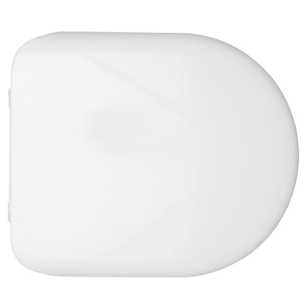 SanCeram Chartham soft close toilet seat and cover for rimless wall hung, back to wall, close coupled toilets