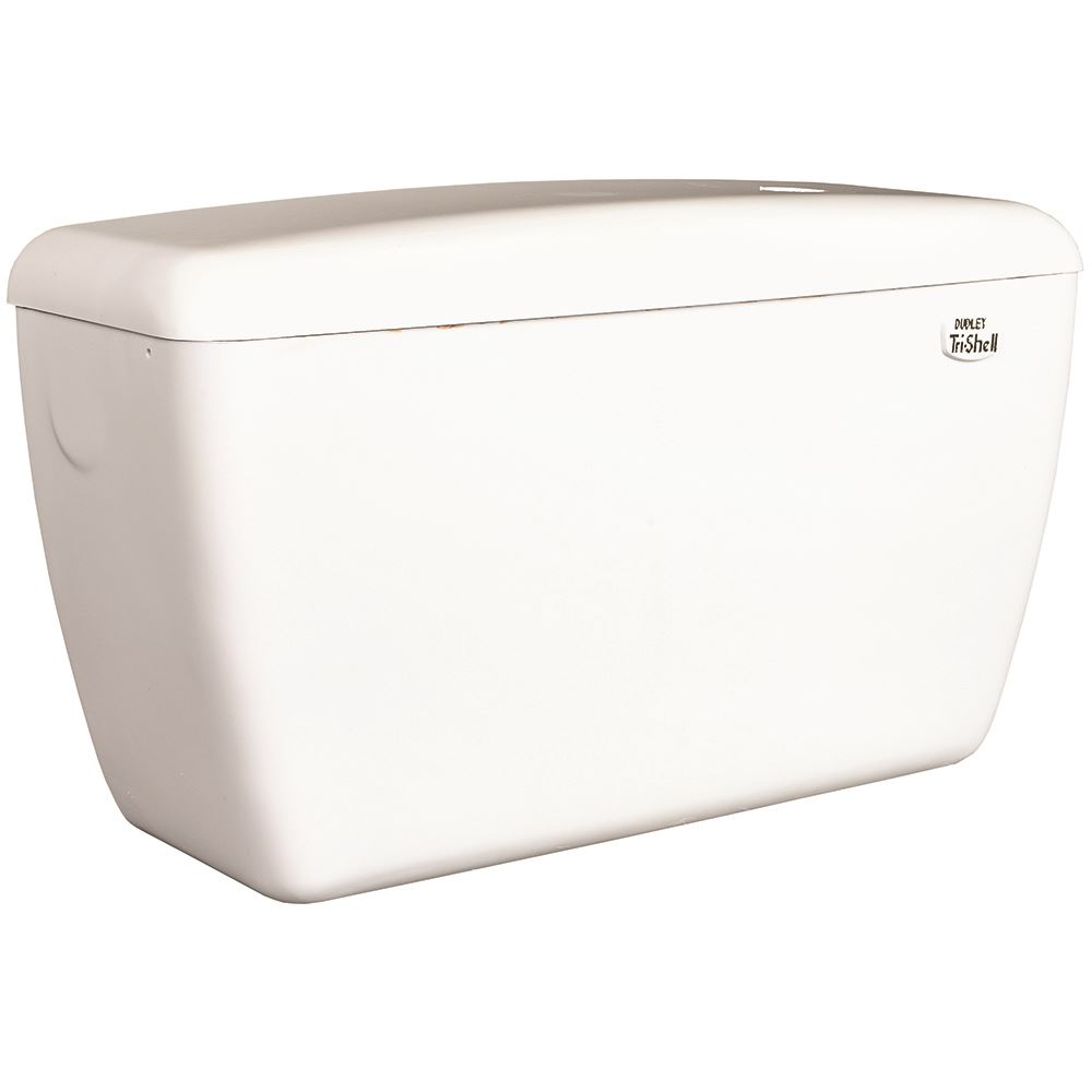 Exposed 'Tri-shell' 9ltr urinal cistern with automatic syphon