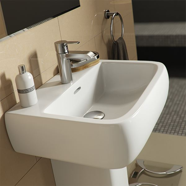 Marden 525 wall mounted central tap hole basin