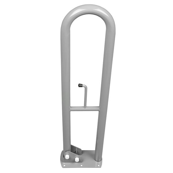 SanCeram 800mm hinged powder coated grab rails - Grey