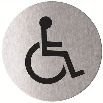 Wheelchair Accessible WC pictogram door sign