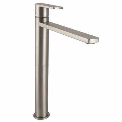 SanCeram Hartley tall mono basin mixer tap - Brushed Nickel