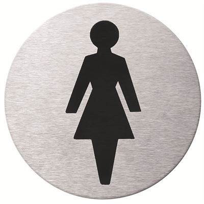Female WC pictogram door sign