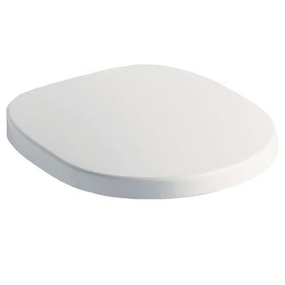 Ideal Standard white soft close toilet seat for use with Concept back to wall and wall hung toilets