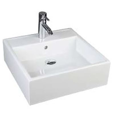 SanCeram Marden 460 – for use as square sit on basin or square wall hung basin