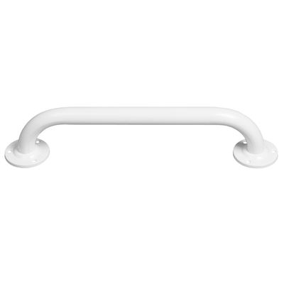 450mm Straight powder coated grab rail - White