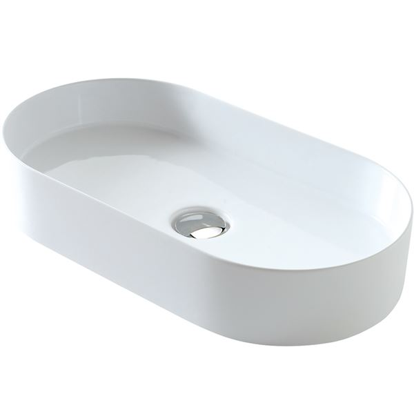 SanCeram Hartley vessel sink - oval sit on vessel basin
