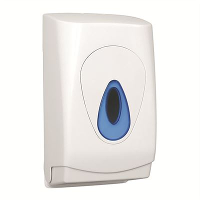 Plastic lockable multiflat toilet tissue dispenser